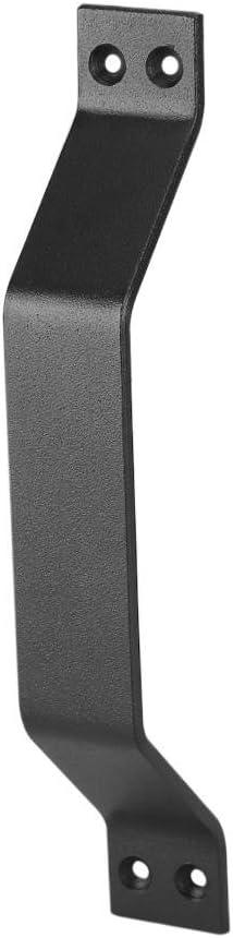 Tirador y tirador de puerta engastado Manija de la puerta de granero Manija de tiro de acero al carbono sólido Manija puerta de servicio pesado para puertas de granero corredizas Garajes Cobertizos