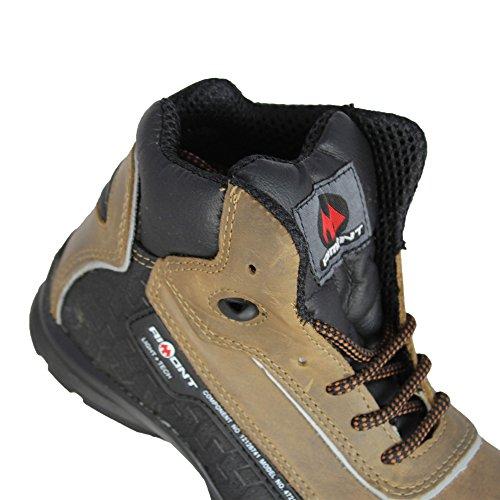De Brown Trabajo Alta Independencia Trekking Aimont Zapatos S3 Src wqInTpA