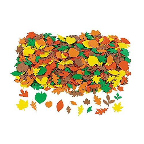 Fun Express  Fabulous Foam Fall Adhesive Leaf Shapes for Fall  Craft Supplies  Foam Shapes  Regular  Fall  500 Pieces