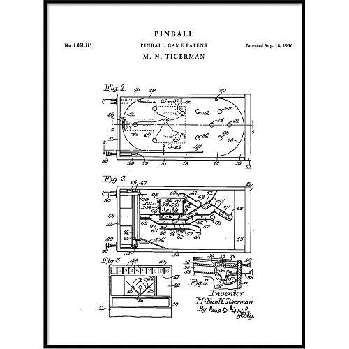 Patent Art - Pinball Game Patent Wall Art Print Poster