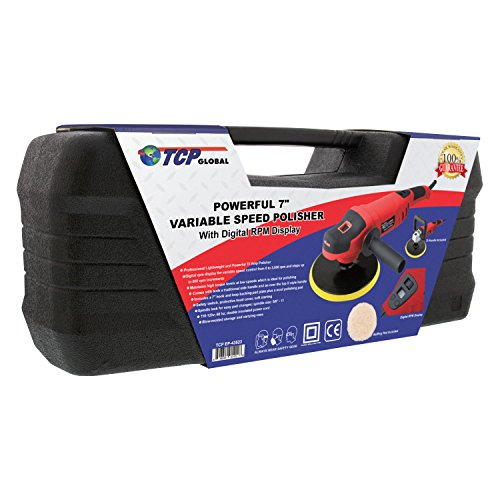 TCP Global 7'' Variable Speed Polisher with Digital RPM Display; Professional High Performance Polisher with a Powerful 10 Amp, 1200 Watt Motor by TCP Global (Image #5)