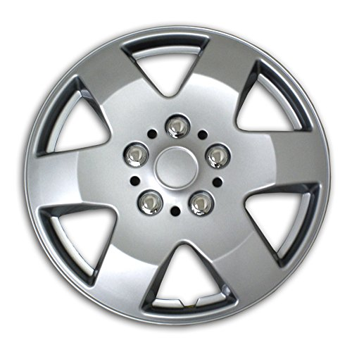 TuningPros WSC2-052S15 Hubcaps Wheel Skin Cover Type 2 15-Inches Silver Set of 4