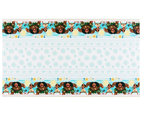 "Moana Birthday Party Supplies American Greetings Moana 54"" x 96"" Plastic Table Cover"