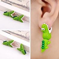 Jaywine2 Women Girls Funny Cartoon 3D Animal Earrings Polymer Clay Ear Stud Earrings Gift