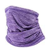 JIUSY 2 Pack or 1 Pack - Soft Fleece Neck Gaiter Warmer...