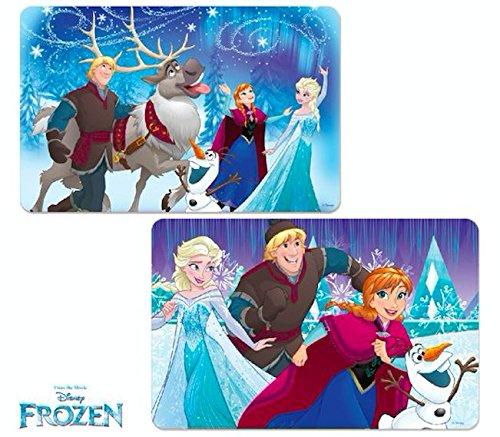 Disney Frozen Girls 3D TableMat Kids Placemat Washable Reusable,BPA Free (Set of 2)
