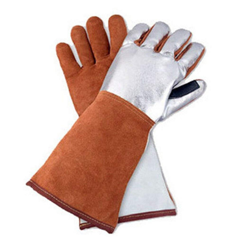 MYXMY Heat and Fire Resistant Welding Work Leather Gloves,Perfect for Welding,BBQ, Gardening, Protect Forearm by MYXMY (Image #1)