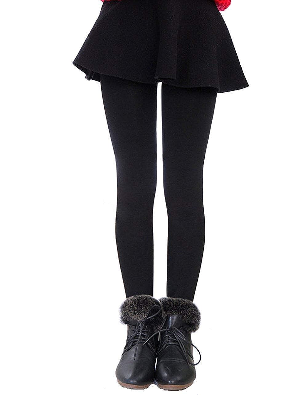 ED Express Girls Winter Warm Fleece Lined Elastic Waist Thick Leggings