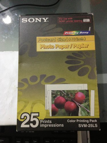 Sony SVM-25LS Color Printing Pack, Cartridge and Postcard Size Photo Paper