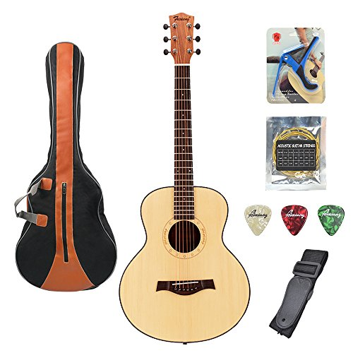 Acoustic Guitar 36 Inch Classical Travel Guitar Bundle with Gig Bag Capo Strings Strap Picks