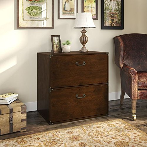 Kathy Ireland by Bush Office Ironworks Coastal Cherry Lateral File Cabinet