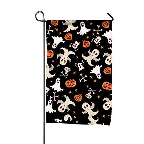 WilBstrn Halloween Ghost Garden Flag Decorative Yard Flag Party Home Indoor Outdoor for $<!--$8.22-->