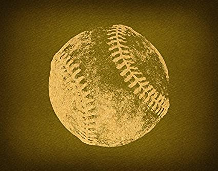 Amazon.com: Classic Baseball Wall Art Print for Home Decoration ...