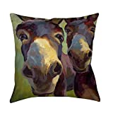 Best Thumbprintz Pillows - Thumbprintz Kiss Me Indoor/Outdoor Accent Pillow Brown/Olive Large Review