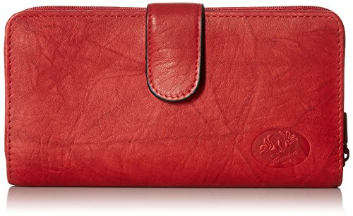 Buxton Women's Heiress Ensemble Clutch, Red, One - Ladies Buxton Wallets