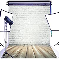 DULUDA 5X7FT White Brick Wall Floor Backdrop Pictorial cloth Customized photography Background studio prop GMT05