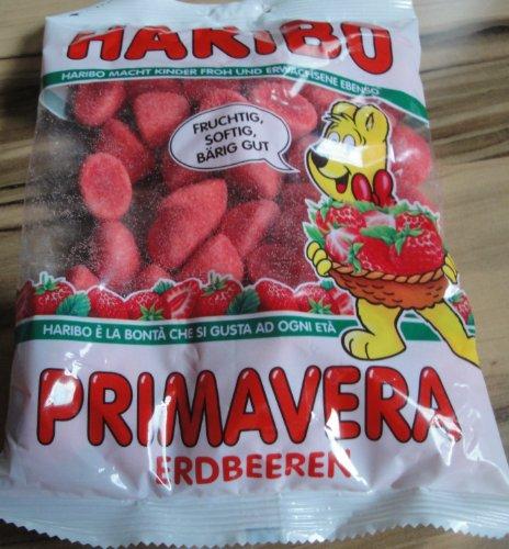 Haribo Primavera-Strawberries Gummi Candy 200 - Haribo Strawberry