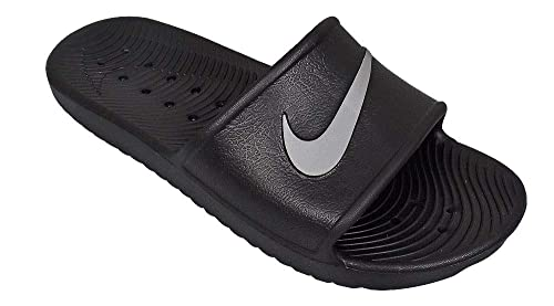 ed6e5d4cd3 Nike Kawa Shower, Chaussures de Plage & Piscine Homme, Noir (Black/Metallic