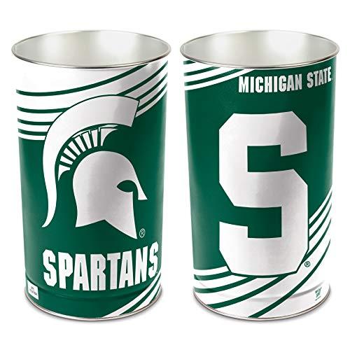WinCraft NCAA 8119210 Michigan State University Tapered Wastebasket, 15