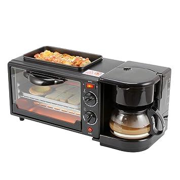 JIANGU Máquina de Desayuno multifunción hogar 3 en 1 Horno de café ...