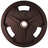 VTX Olympic Rubber Grip Weight Plate (18 in. Dia x 2 in. H (45 lbs.))