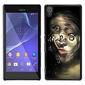 EJOY---Cubierta de la caja de protección para la piel dura ** Sony Xperia T3 ** --cara rota