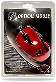NHL Minnesota Wild Optical Mouse, Size 8.25, Red