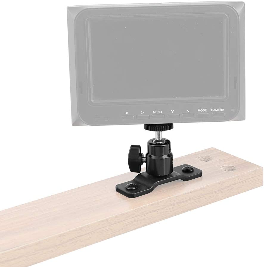 CAMVATE 1//4-20 Ball Head with Bottom Pedestal Mount for Monitor//Surveillance System Support