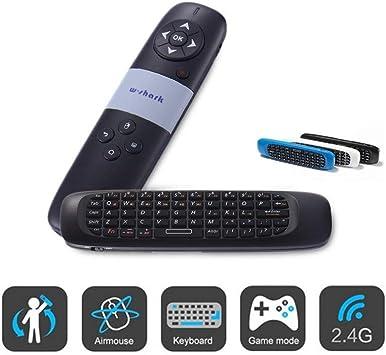 Trade Shop traesio Puntero láser ratón Teclado QWERTY Inalámbrico para conferencias presentaciones: Amazon.es: Electrónica