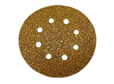 Sungold Abrasives 5-Inch by 8 Hole 40 Grit HeavyWeight Paper Premium F-Weight Paper Hook and Loop Discs