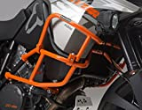 SW-MOTECH Orange Upper Crashbars Engine Guards for KTM 1190 Adventure '13-'15 & 1190 Adventure R '13-'15 with Factory Crash bars