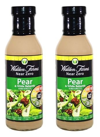 Walden Farms Calorie Free Dressing, Pear/White Balsamic, 12 Ounce (Pack of 2)