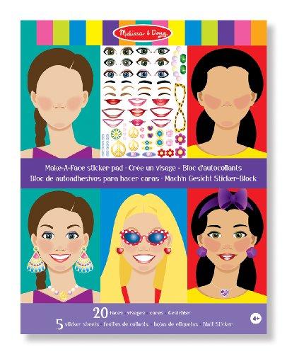(Melissa & Doug Make A Face Sticker Pad)