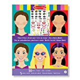 Melissa & Doug Make-a-Face Sticker Pad - Fashion Faces, 20 Faces, 5 Sticker Sheets