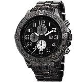 Joshua & Sons Men's JS78BK Swiss Quartz Multifunction Black Bracelet Watch