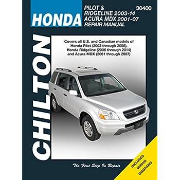 amazon com chilton automotive repair manual for honda pilot mdx rh amazon com acura mdx 2005 service manual acura mdx 2004 manual