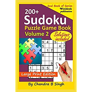 Sudoku Puzzle Game Book Volume 2: 200+ Easy, Medium, and Hard Large Print Puzzle Book For Adults – Brain Teasing Puzzles