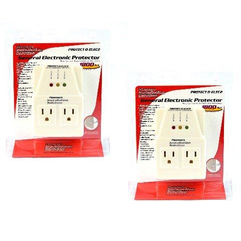 Voltage Protector Brownout Surge Refrigerator Dual Plug 1800 Watt Appliance 2 PK