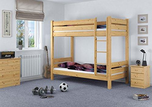 Etagenbett Für Erwachsene 100 Kg : Erst holz etagenbett für erwachsene kiefer rollrosten