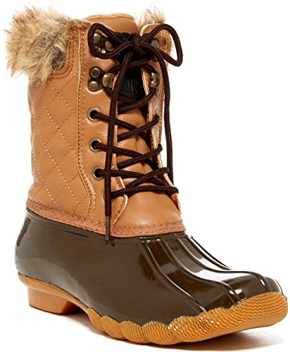 Arktisk Stupe Kvinners Quilty Boot Tan-brun