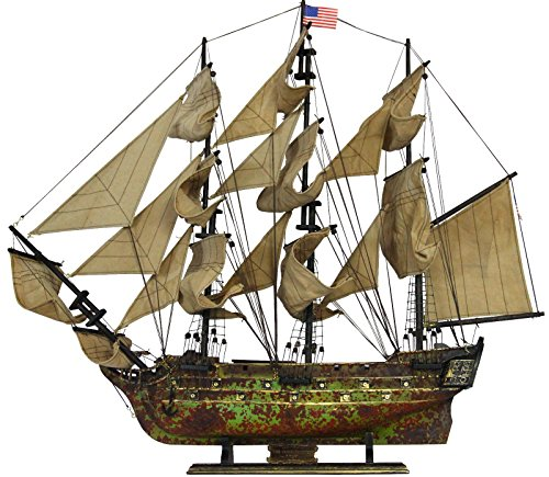 - Davyarts Nautical Decor Wooden Ship Models USS Constitution Tall Model Ship, 30