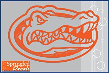 florida gators logo outline. florida gators orange cut vinyl gator head logo 20u0026quot vinyl decal car truck window uf logo outline
