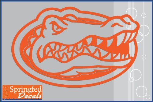 - Florida Gators ORANGE CUT VINYL GATOR HEAD LOGO 12