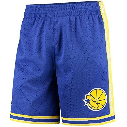 Mitchell & Ness Mens Golden State Warriors Swingman Shorts Blue/Yellow Size S -
