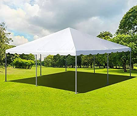 white Wedding Party Tent Bolt Steel Construction 3x6m Heavy Duty PVC Marquee