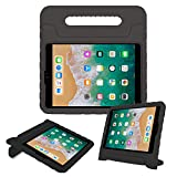 TIRIN Kids Case for New iPad 9.7 2017/2018 Release - Light Weight Shock Proof Convertible Handle Stand Friendly Kids Case for iPad 9.7 Inch 2017/2018(iPad 5th & 6th Gen), Black