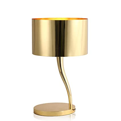 Luxurious and creative gold-plated desk lamp E27 living room ...