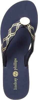 Details about  /Lindsay Phillips Taylor-Tu Wedge Flip Flop Sandal Black