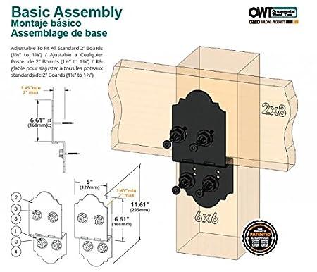 Amazon.com: OZCO 8 Laredo Sunset Post to Beam Hardware / Ornamental Wood Ties: Home Improvement