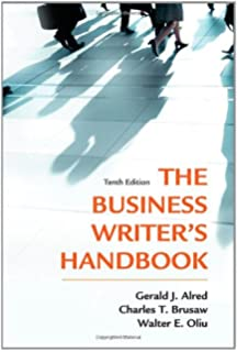 The business writers handbook gerald j alred walter e oliu the business writers handbook tenth edition business writers handbook hardcover fandeluxe Image collections